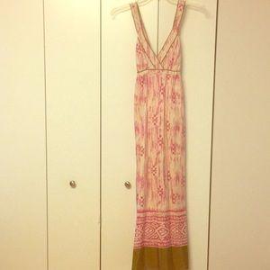 Ann Taylor Loft Silk Maxi Dress